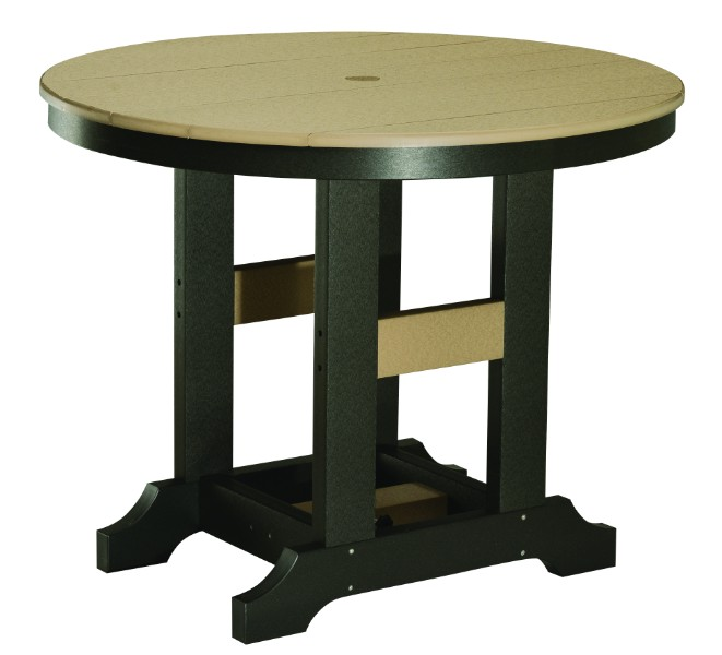 "Garden Classic 38"" Round Bar Height Table (Natural Finish)"