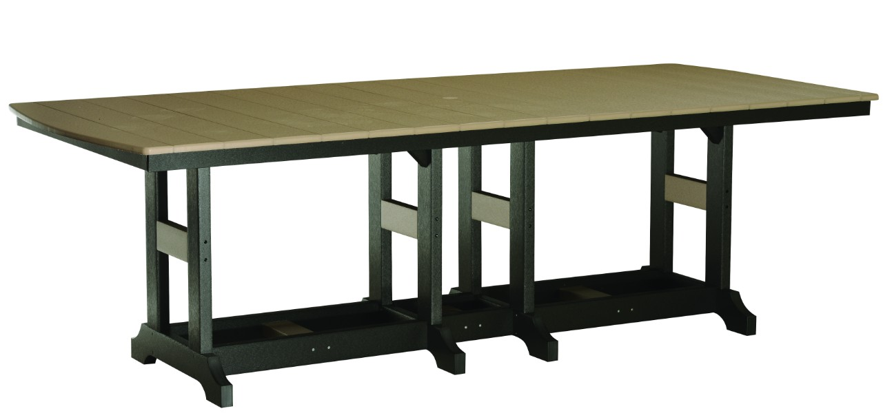 "Garden Classic 44""x96"" Rectangular Counter Height Table (Natural Finish)"