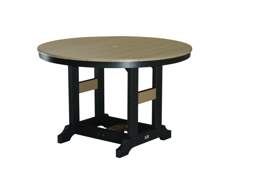 "Garden Classic 48"" Round Bar Height Table (Natural Finish)"
