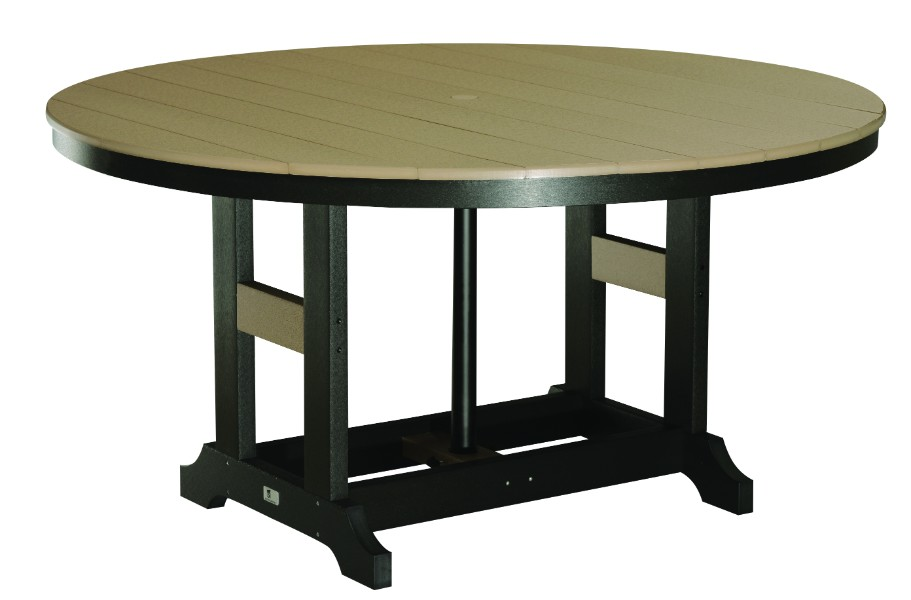 "Garden Classic 60"" Round Bar Height Table (Natural Finish)"