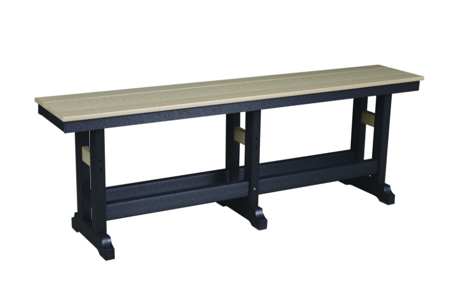 "Garden Classic 66"" Counter Height Bench (Natural Finish)"