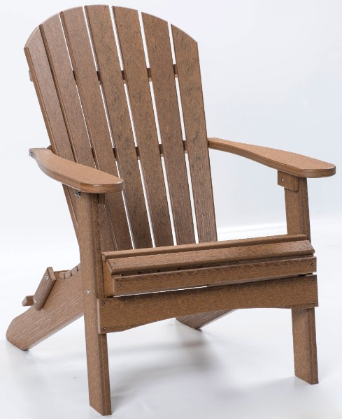 Berlin Gardens Comfo-Back Folding Adirondack Chair (Natural Finish)