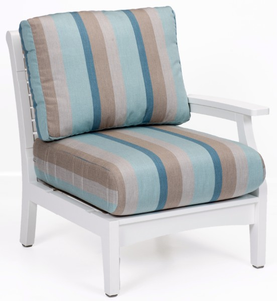 Berlin Gardens Classic Terrace Left Arm Sectional Club Chair (Fabric Group A)
