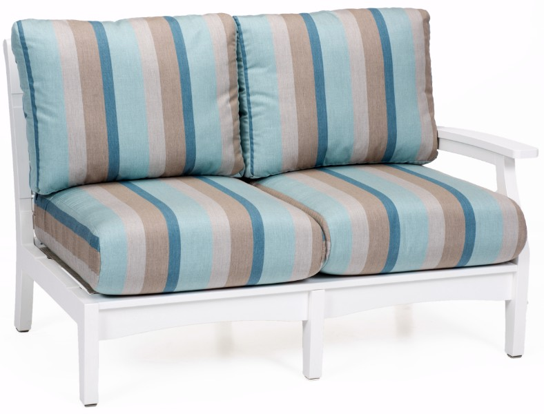 Classic Terrace Left Arm Sectional Loveseat (Fabric Group A)