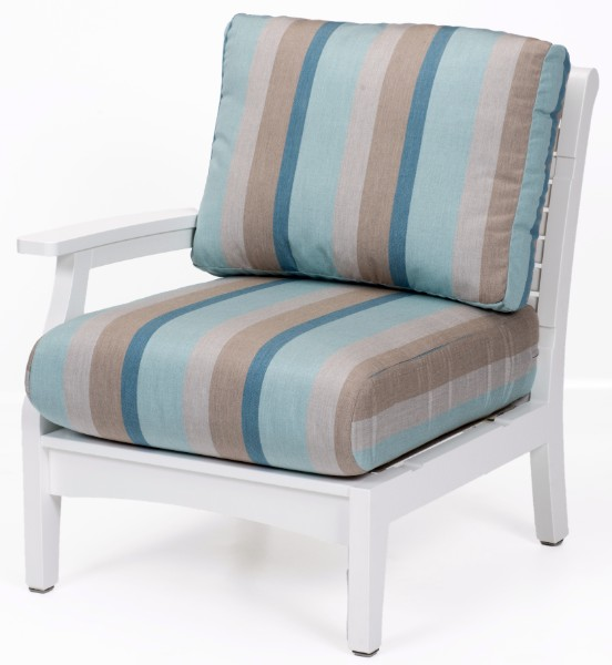 Berlin Gardens Classic Terrace Right Arm Sectional Club Chair (Fabric Group A)