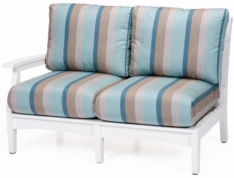 Berlin Gardens Classic Terrace Right Arm Sectional Loveseat (Fabric Group A)