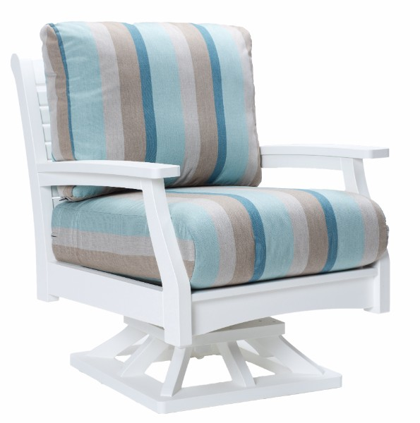 Berlin Gardens Classic Terrace Swivel Rocker (Fabric Group A)