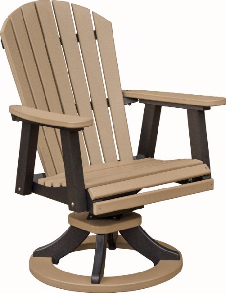 Berlin Gardens Comfo-Back Swivel Rocker Dining Chair (Natural Finish)