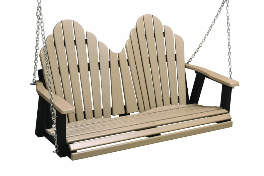 Berlin Gardens Cozi-Back Double Swing (Natural Finish/Stainless Chains)