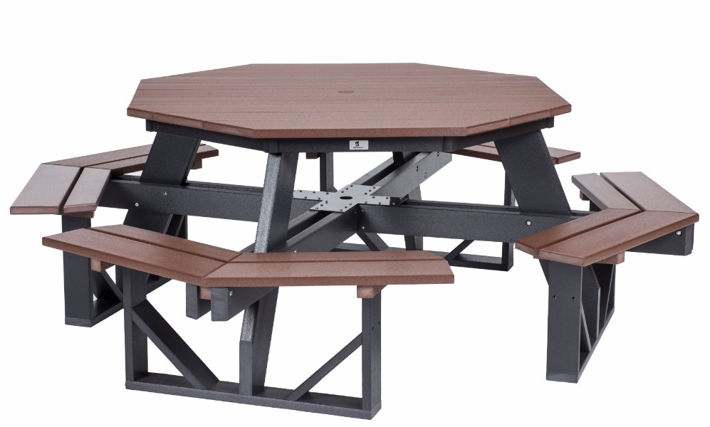 Berlin Gardens Octagon Picnic Table (Natural Finish)