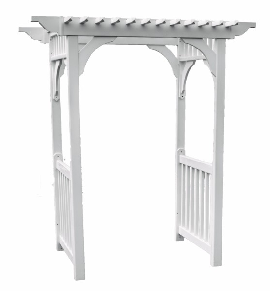 Sidewalk Arbor w/ Ground Anchors (Clay Color)