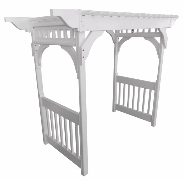 Vinyl Swing Arbor w/ Ground Anchors (Clay Color)